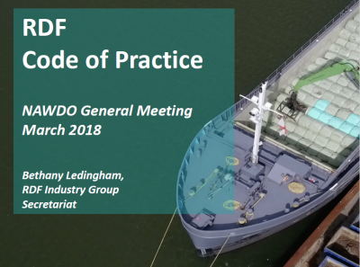 RDF Code of Practice - NAWDO General Meeting March 2018
