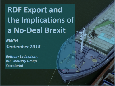 RDF Export and the Implications of a No-Deal Brexit cover