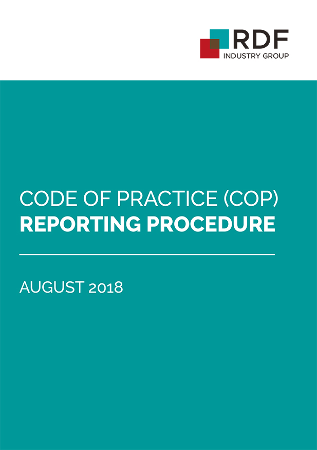 Code of Practice (COP) reporting procedure