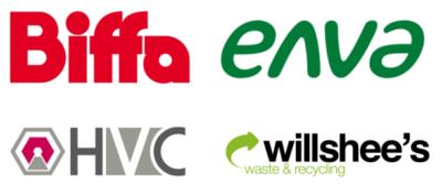 Biffa, Enva, HVC and Willshees logos